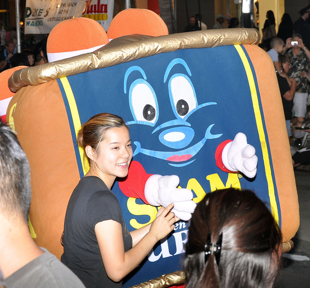 Girl at Spam Jam (2009) in Hawaii