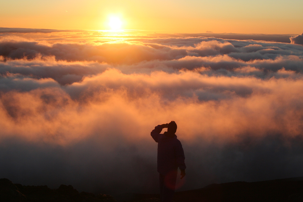 Photo of the Moment: Standing Above the Clouds, Maui — Vagabondish