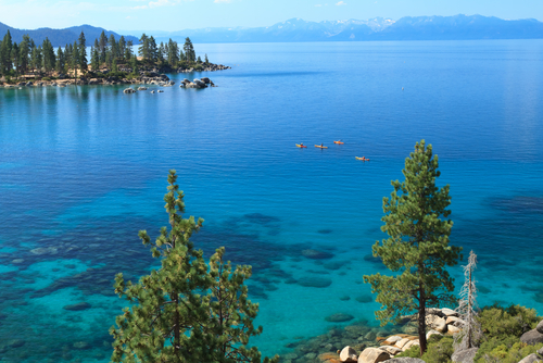 Summer Kayaking on Lake Tahoe