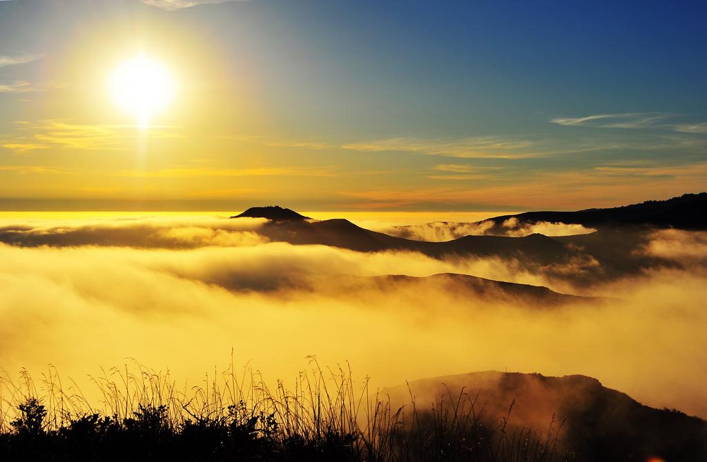 Sun, Hills & Fog at Marin Headlands, California