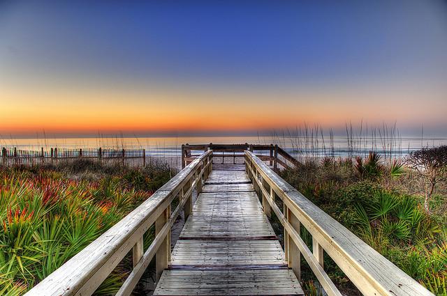 Sunrise on the Boardwalk, Florida
