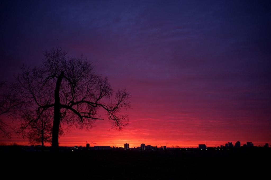 Sunrise at Waterman Farm, Columbus, Ohio