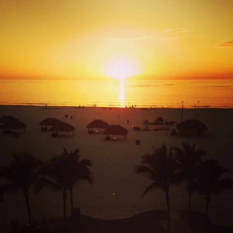 Sunset from Marriott Resort Marco Island, Florida