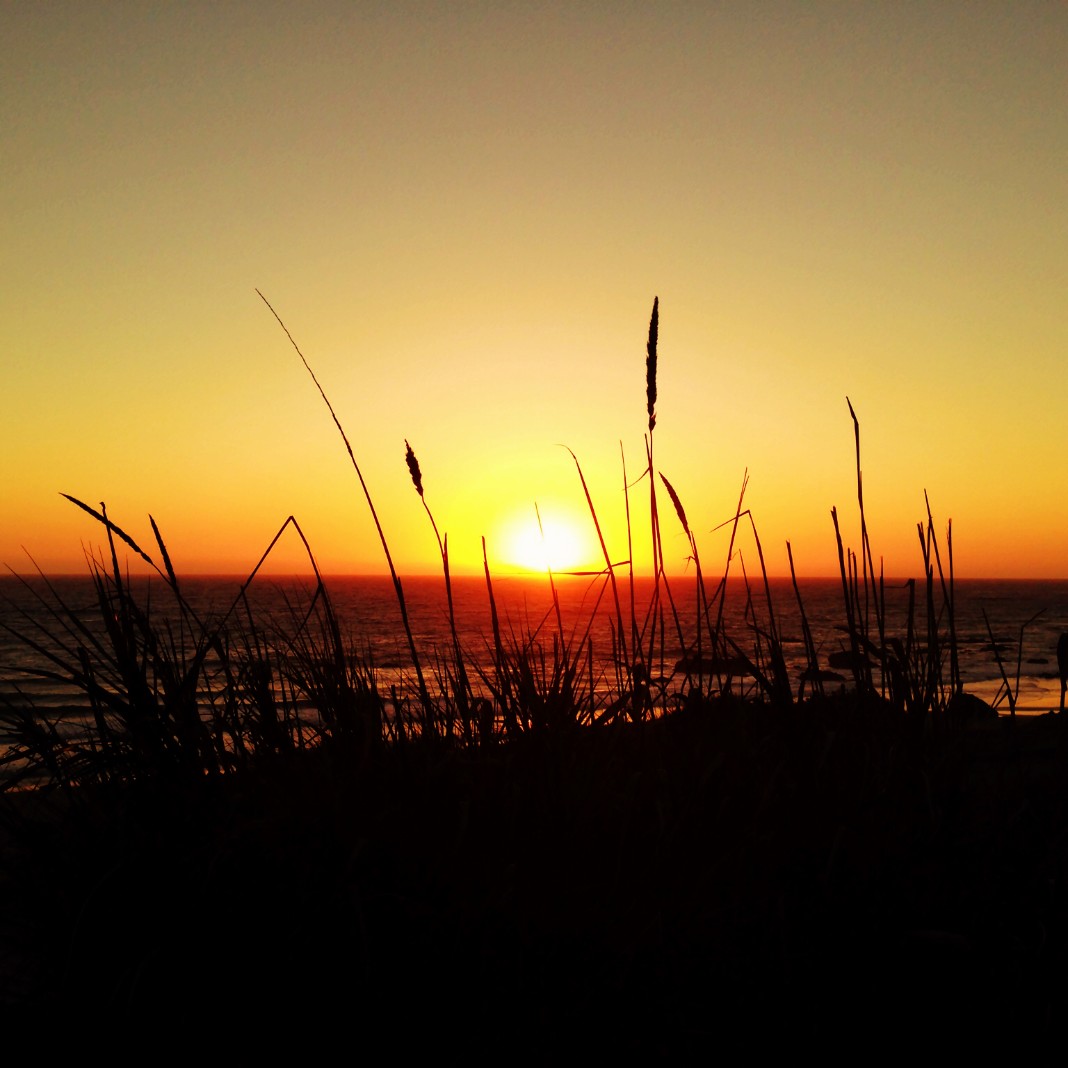 Sunset at Moonstone Beach, California