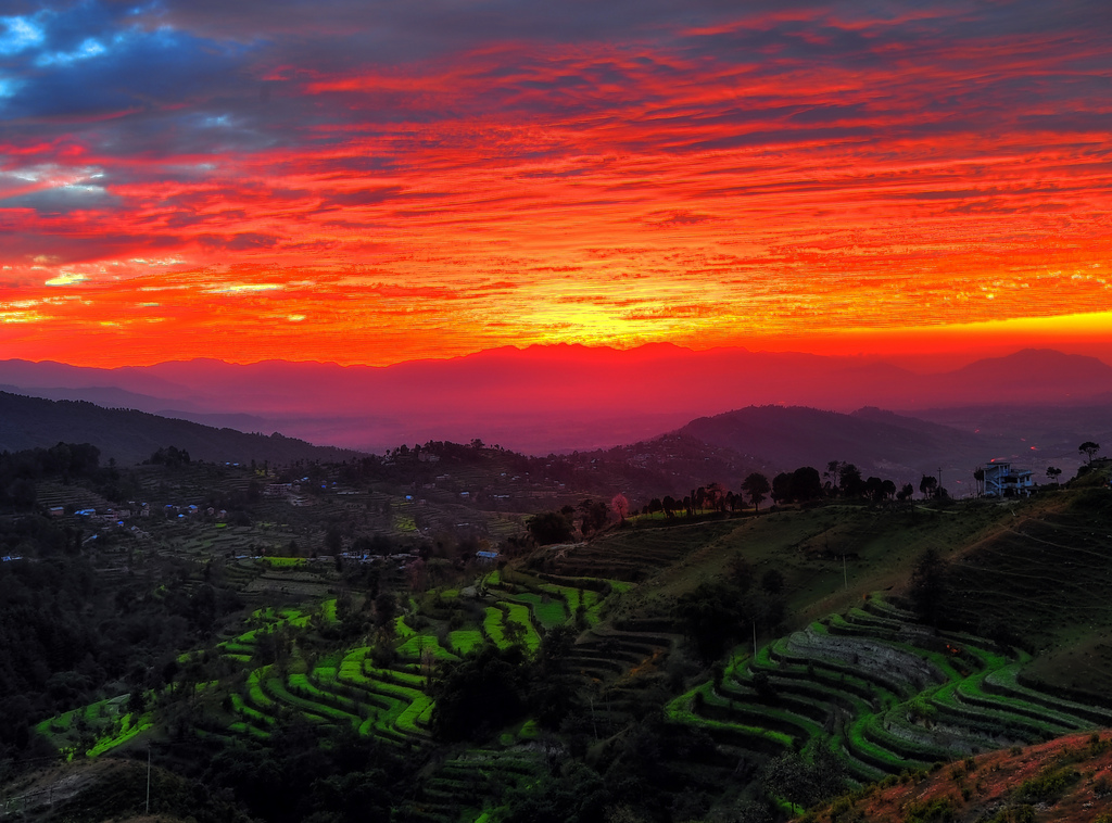 Sunset Over Kathmandu Valley, Nepal