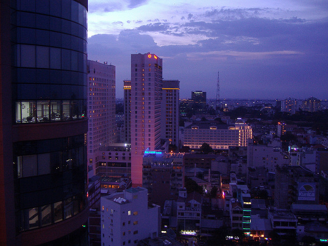 Sunset in Saigon