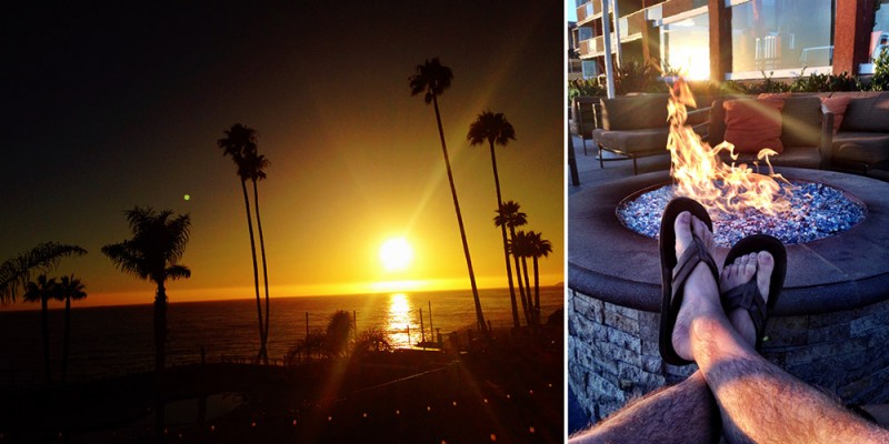 Sunset at SeaCrest Oceanfront Hotel in Pismo Beach, California
