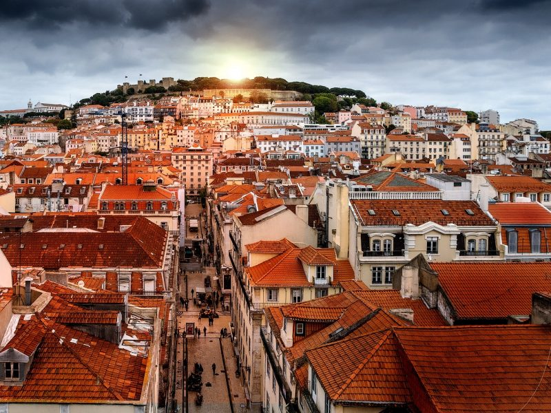 Sunset on the Lisbon Skyline (Portugal)