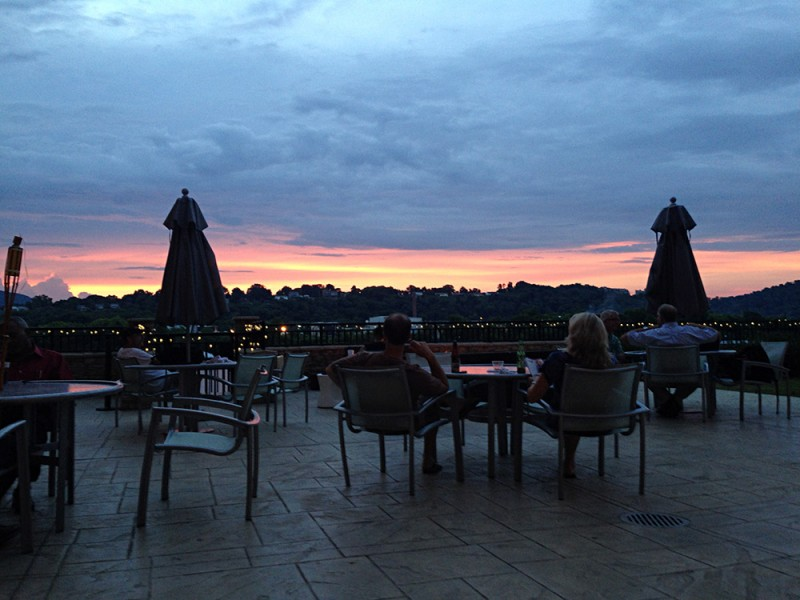 Sunset from the outdoor patio of Springhill Suites by Marriott in Chattanooga, Tennessee