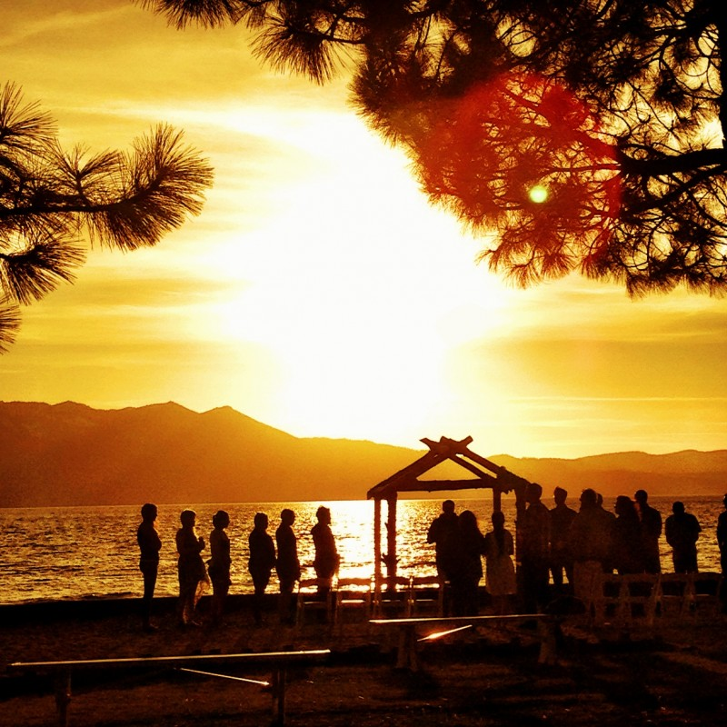 Sunset from the Beach at The Landing Resort, Lake Tahoe, California