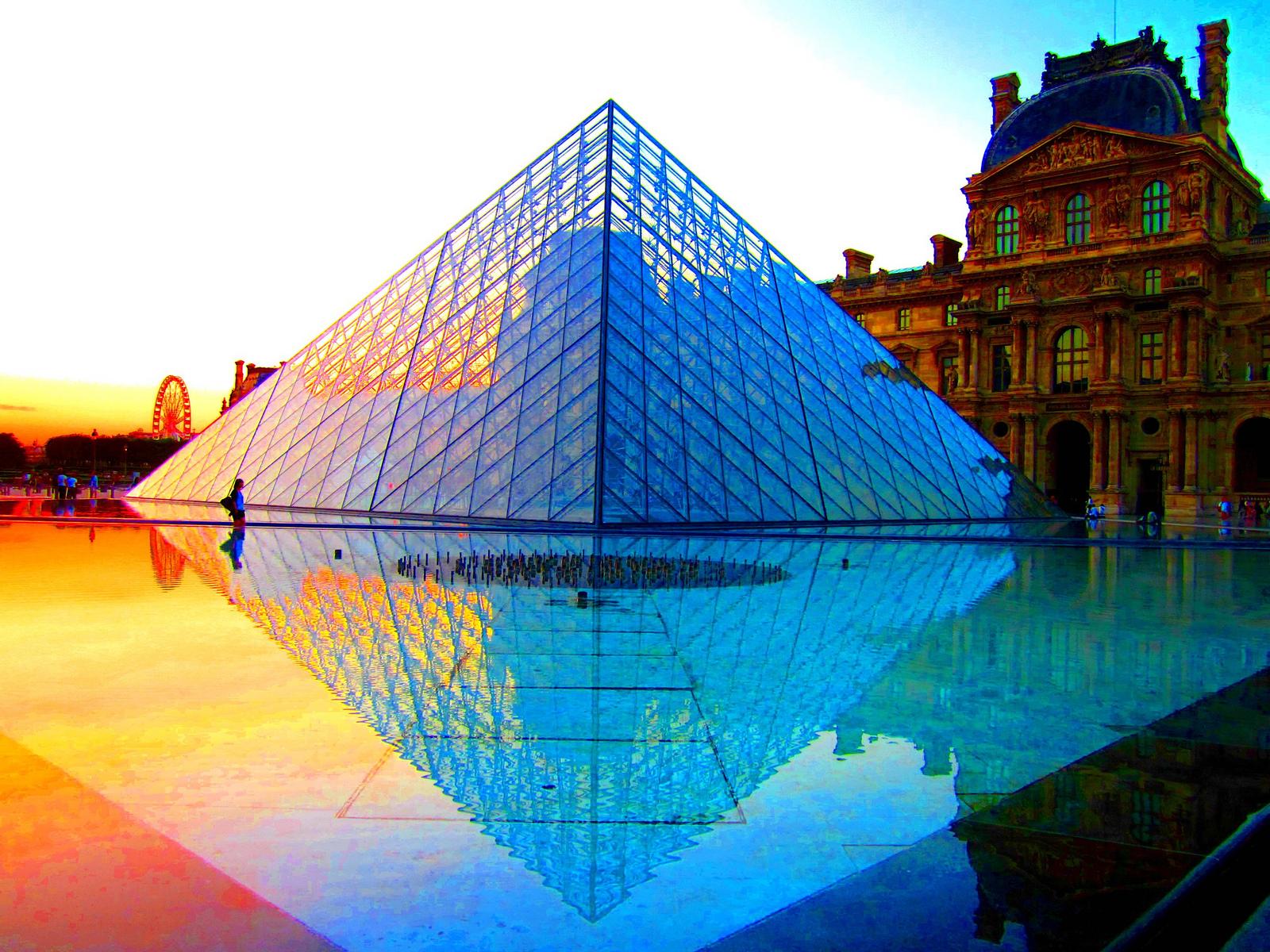 Sunset at the Louvre, Paris, France