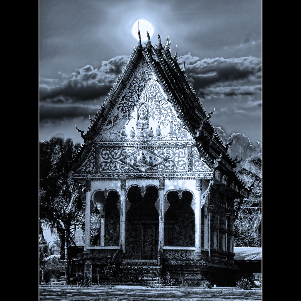 Photo Of The Moment: Temple Under The Moon, Luang Prabang