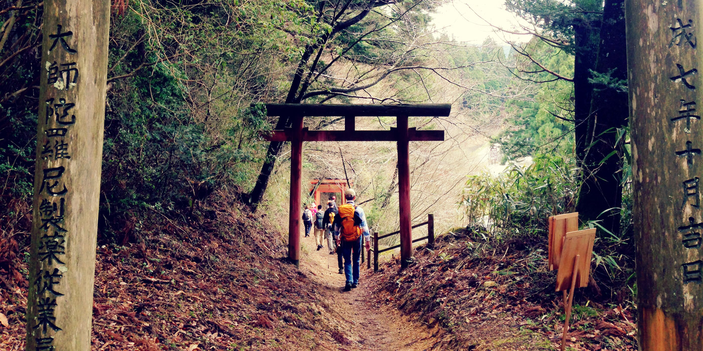 Torii Gate on Japan's Kumano Kodo Pilgrimage