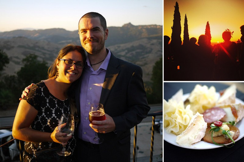 Enjoying the Kickoff Event of Sunset Savor the Central Coast at California's Hearst Castle