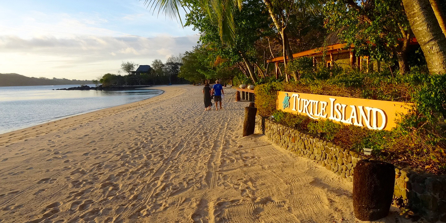 Sign at Turtle Island, Fiji