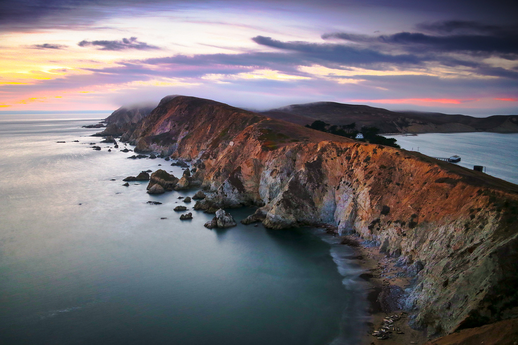 Twilight at Chimney Rock, Point Reyes, California