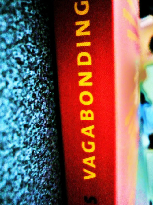 Side view of \'Vagabonding\' book