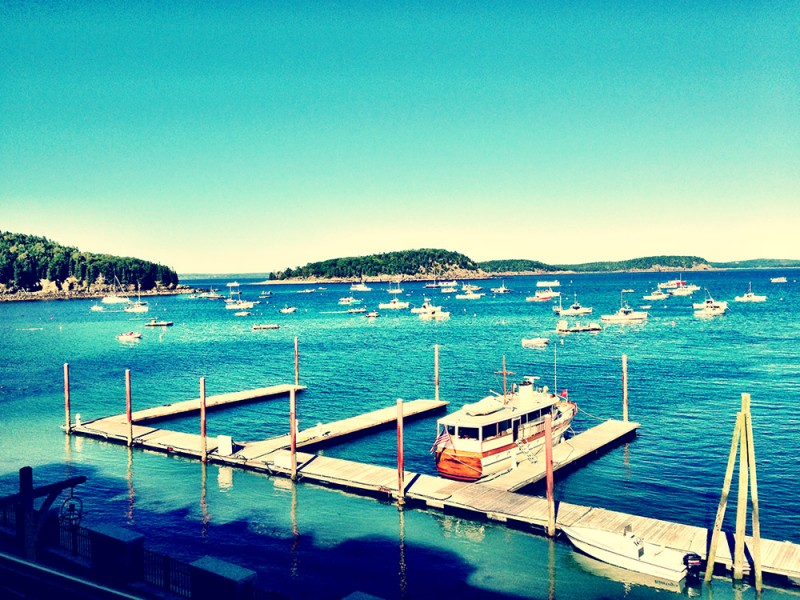 A View to Frenchman Bay from Harborside Hotel in Bar Harbor, Maine