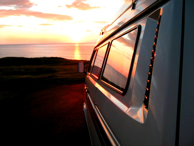 Campervanning in Isle of Harris, Scotland