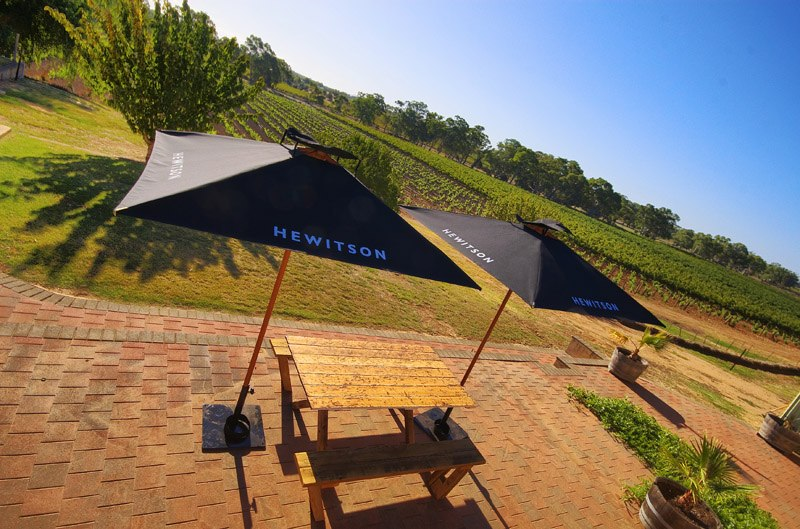 Wine Tasting Patio at Hewitson, South Australia