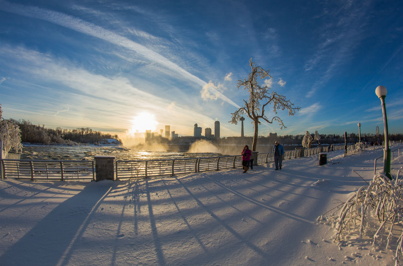 Winter in Niagara Falls, New York